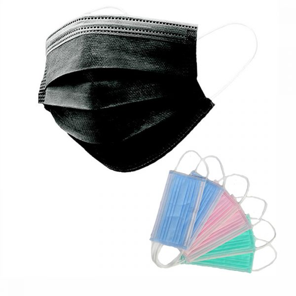 Oem logo colors pattern Civil use earloop 3 ply non medical disposable face mask